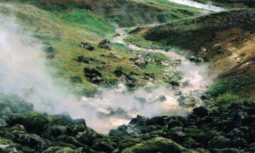 Zdjecie ISLANDIA / brak / okolice Hveragerdi / wrząca rzeka