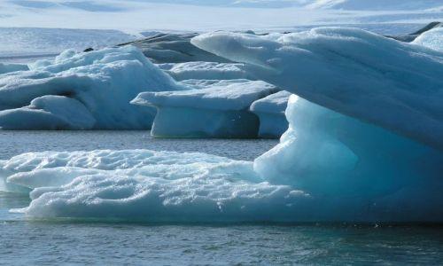 ISLANDIA / poludnie / zatoka lodowa / gorki lodowe