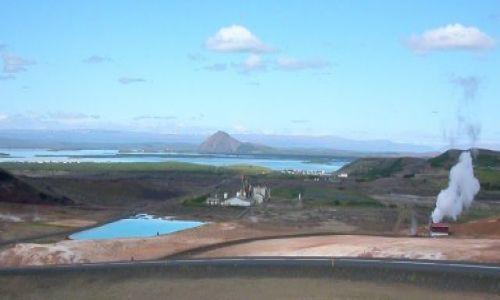 Zdjecie ISLANDIA / Islandia P�nocna / Jezioro Myvatn / B��kitna laguna