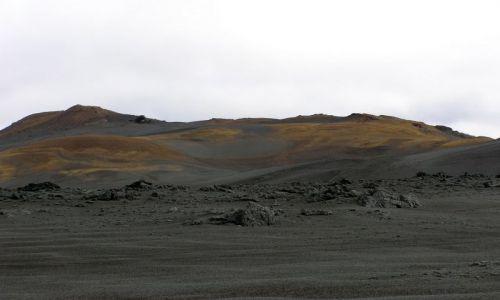 Zdjecie ISLANDIA / brak / interior / krajobraz brązu