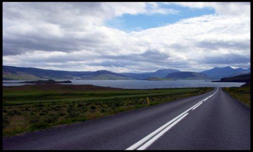 Zdjecie ISLANDIA / Reykiavik  / Droga nr 47 i fjord Hvalfjörðu / Fiordy zachodnie