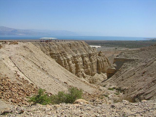 Zdj�cia: Qumran, Morze Martwe, panorama, IZRAEL