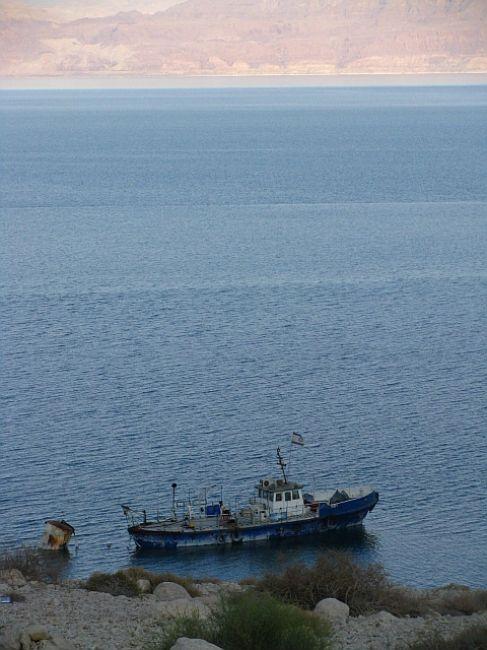 Zdjęcia: Ein Gedi, Morze Martwe, samotny kuter, IZRAEL