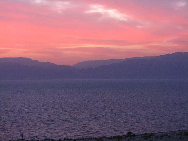 Zdjęcia: Park Narodowy Ein Gedi, Morze Martwe, Wschód słońca, IZRAEL