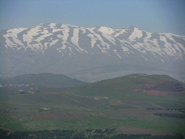 Zdjęcia: wzgórza Golan, Galilea, widok z góry Bental, IZRAEL