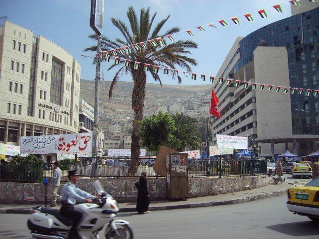Zdjęcia: Główny plac w Nablusie, największym mieście na Zachodnim Brzegu Jordanu, Palestyna, Nablus, IZRAEL