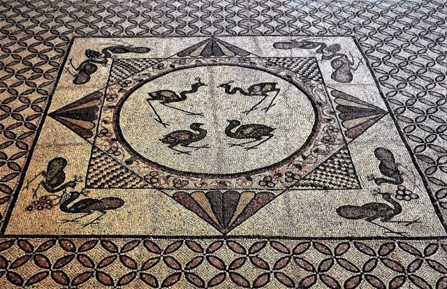Zdjęcia: Ein Gedi, Morze Martwe, Mozaiki ze starej synagogi, IZRAEL