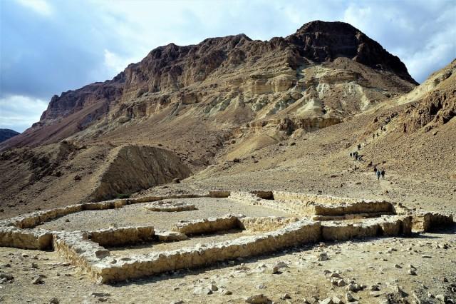 Zdjęcia: Ein Gedi, Morze Martwe, Ruiny świątyni, IZRAEL