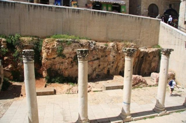 Zdjęcia: Jerozolima, Jerozolima  Stare Miasto - Cardo Maximus rzymskie ruiny w  Jewish Quarter , IZRAEL