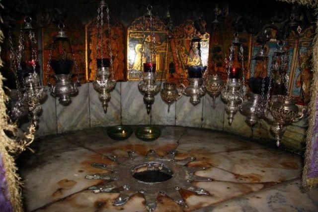Zdjęcia: Betlejem Palestyna , Gwiazda w Grocie  Narodzenia Chrystusa, IZRAEL