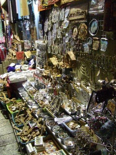 Zdj�cia: Jerozolima, Jerozolima, Bazar z pami�tkami w Jerozolimie, IZRAEL