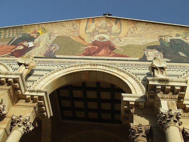 Zdjęcia: Jerozolima, Jerozolima, Fasada Kościoła Narodów, IZRAEL
