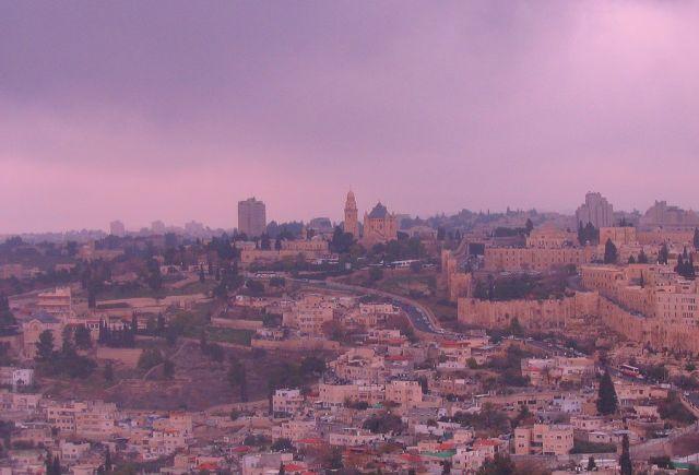 Zdjęcia: Jerozolima, Jerozolima, w pochmurny dzień, IZRAEL