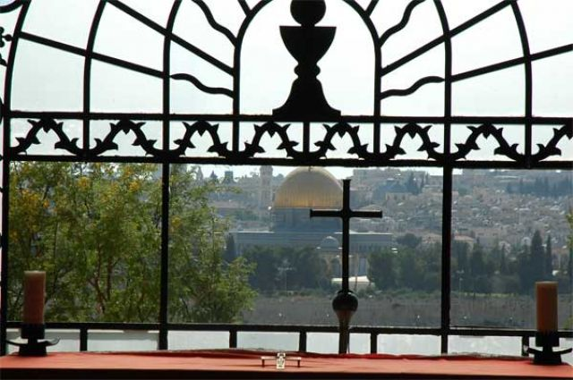 Zdjęcia: Jerozolima, Izrael, Widok na Jerozolimę z Domius Flevit, IZRAEL