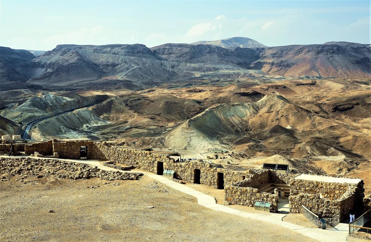 Zdjęcia: Masada, Morze Martwe, Za murami twierdzy, IZRAEL