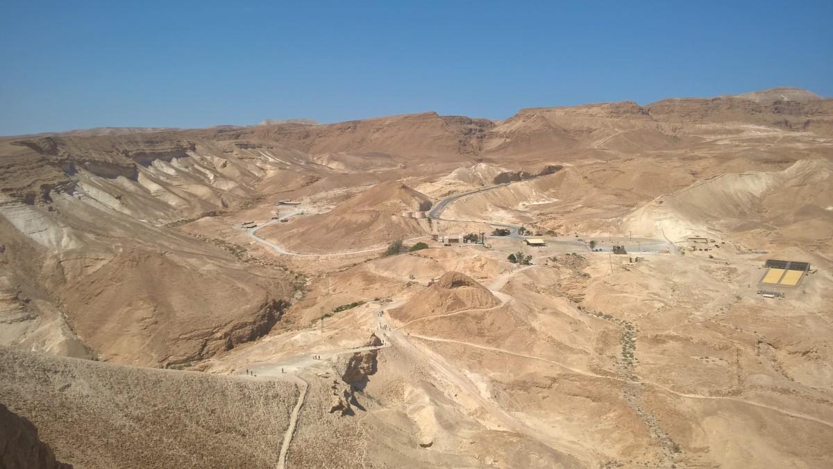Zdjęcia: Masada, Pustynia Judzka, Widok z Masady na Pustynię Judzką, IZRAEL