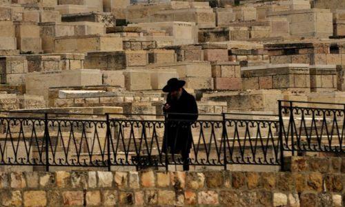 Zdjęcie IZRAEL / - / Jerozolima / STARY CMENTARZ W JEROZOLIMIE