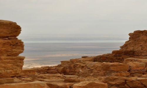 IZRAEL / - / Masada / Masada - w tle Morze Martwe