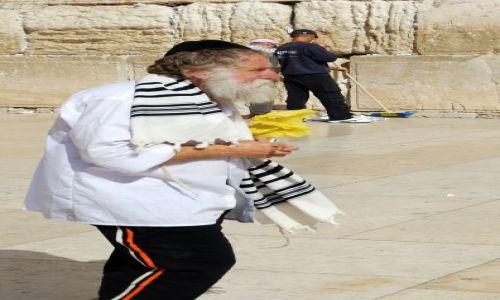 IZRAEL / Bliski Wschód / Jerozolima / Ściana Płaczu