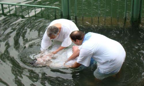 IZRAEL / - / Nad rzeką Jordan / Odnowienie chrztu świetego