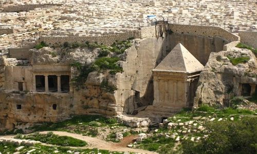 Zdjęcie IZRAEL / Judea / Jerozolima / Grobowce Jozafata i Zachariasza