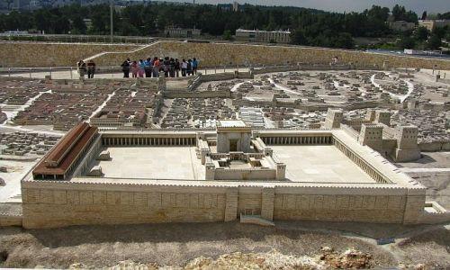 IZRAEL / Judea / Jerozolima / muzeum Izraela model II Świątyni