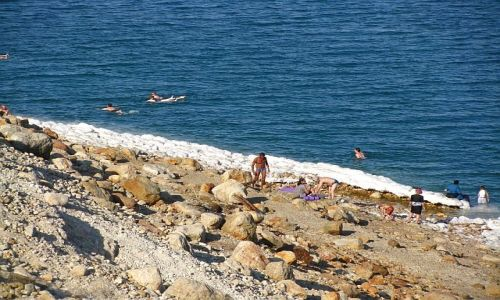 IZRAEL / Morze Martwe / Ein Gedi / plaża