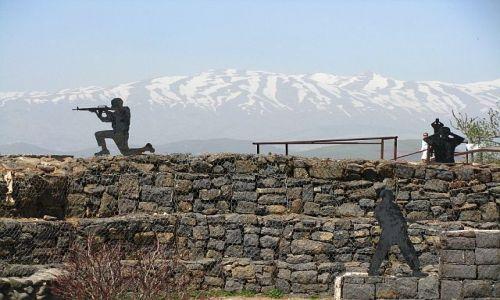 IZRAEL / Galilea / wzgórza Golan / szczyt Bental
