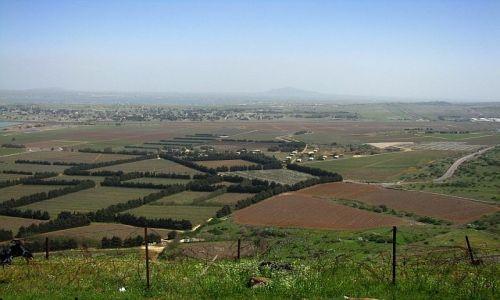 Zdjęcie IZRAEL / Galilea / wzgórza Golan / widok z góry Bental