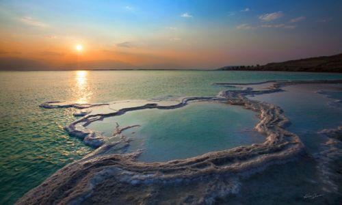 Zdjecie IZRAEL / Bliski Wschód  / Morze Martwe  / Wschód Słońca
