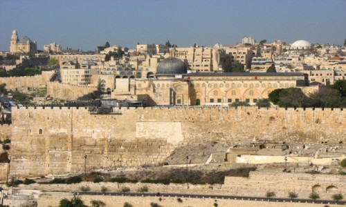 Zdjęcie IZRAEL / Jerozolima  / Widok z Góry Oliwnej / Mury Jerozolimy
