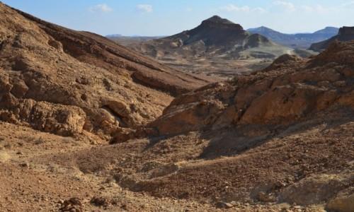 Zdjecie IZRAEL / Pustynia Negew / Maktesz Ramon / barwy ziemi