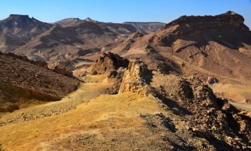 Zdjecie IZRAEL / Pustynia Negew / Maktesz Ramon / barwy ziemi 2