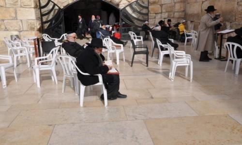 Zdjecie IZRAEL / Jerozolima / Ściana Płaczu / Modlitwa przed