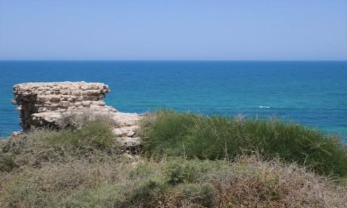 Zdjecie IZRAEL / Dystrykt Południowy / Starożytne ruiny w Aszkelon / Z widokiem na morze
