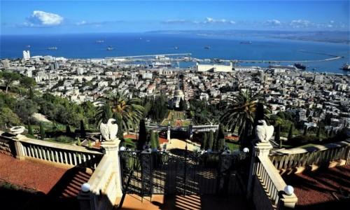 Zdjęcie IZRAEL / Haifa / Ogrody Bahai / Panorama