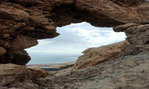 IZRAEL / Morze Martwe / Ein Gedi / Okno