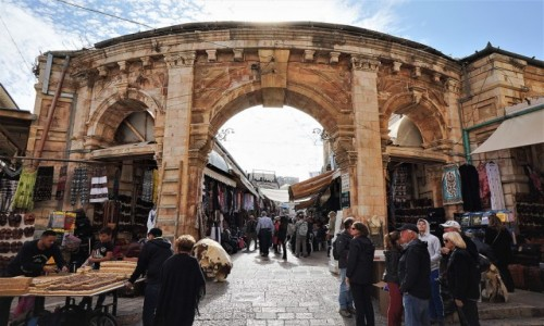 Zdjęcie IZRAEL / Jerozolima / Dzielnica muzułmańska / Brama do Muristan, dzielnicy chrześcijańskiej