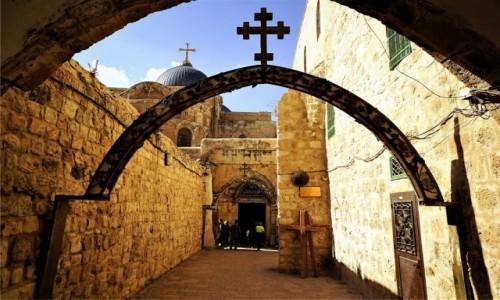 Zdjęcie IZRAEL / Jerozolima / Koptyjski zespół klasztorny z  XVI w. / Stacja IX Via Dolorosa