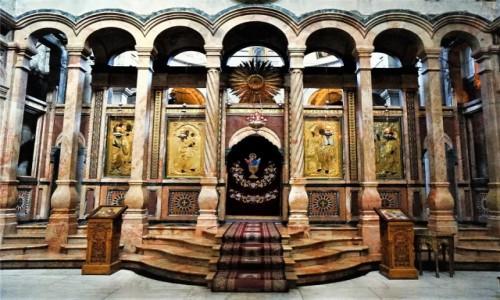 Zdjęcie IZRAEL / Jerozolima / Bazylika Grobu Świętego / Wejście do Katholikonu