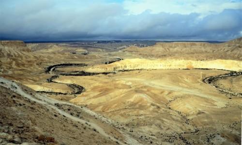 Zdjęcie IZRAEL / Pustynia Negew / Park Narodowy Avdat / Koryto wyschniętej rzeki
