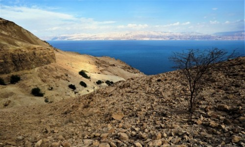 IZRAEL / Morze Martwe / Ein Gedi / Jordania na drugim brzegu