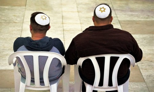 Zdjęcie IZRAEL / Jerozolima / . / Pod ścianą płaczu