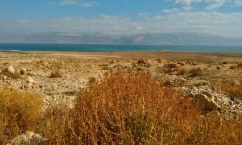 Zdjęcie IZRAEL / Palestyna / kalya / w oddali morze martwe