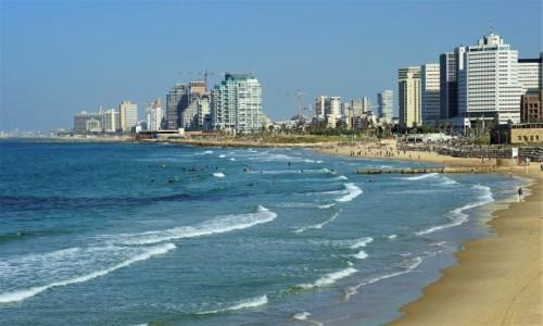 Zdjęcie IZRAEL / Tel Aviv / Jaffa / Plaża o poranku