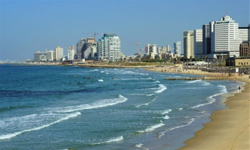 Zdjecie IZRAEL / Tel Aviv / Jaffa / Plaża o poranku