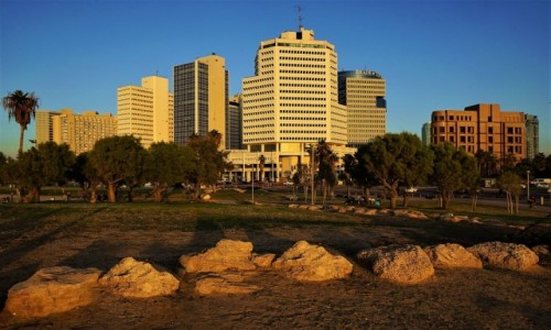Zdjęcie IZRAEL / Tel Aviv / Jaffa / W zachodzącym słońcu