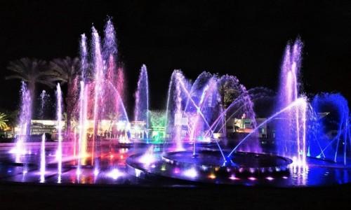 IZRAEL / Eilat / Central Park / Tańczące fontanny