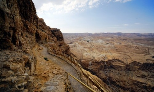 Zdjecie IZRAEL / Morze Martwe / Masada  / Schody, schody...