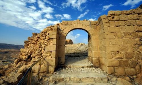 Zdjęcie IZRAEL / Morze Martwe / Masada / Wejście do pałacu